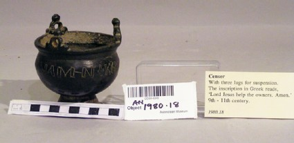 Censer with Greek inscription
