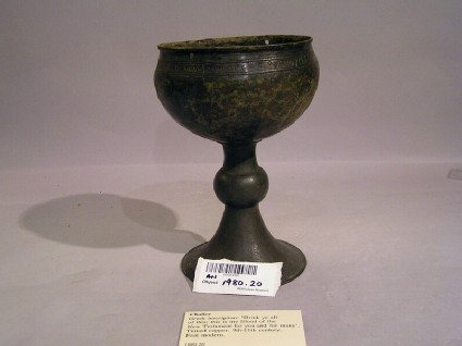 Chalice with Greek inscription