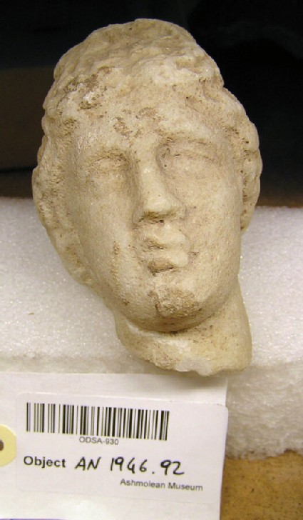 Female marble head from statuette