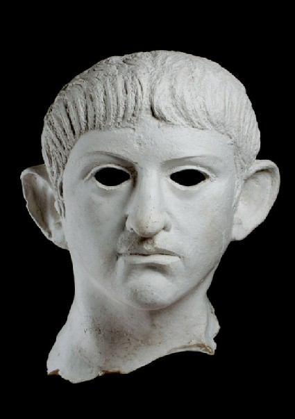 Cast of a bronze head of Nero