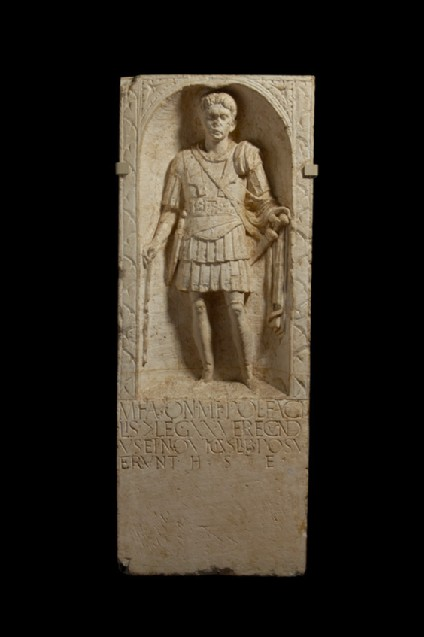 Cast of a tombstone for M. Favonius Facilis from Colchester
