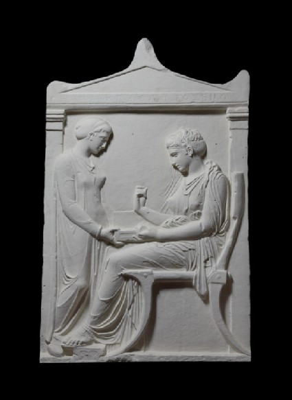 Cast of the grave stele of Hegeso from the Athenian Kerameikos