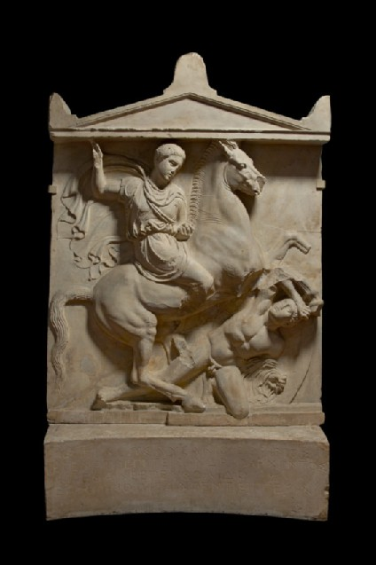 Cast of the grave stele of Dexileos, from the Athenian Kerameikos