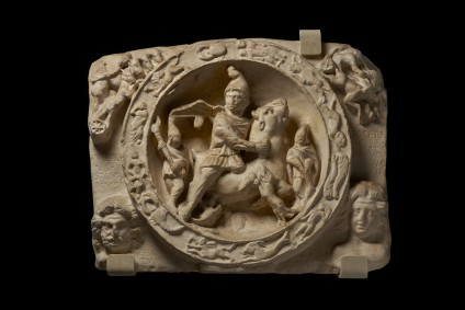 Cast of the Mithras Tauroctonos relief from London