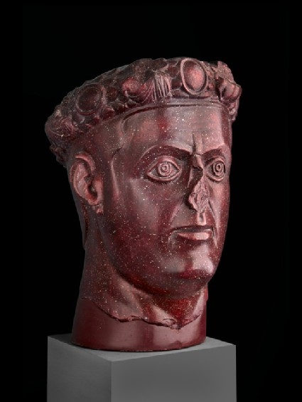 Cast of the head of a Tetrarch, probably Galerius, from Gamzigrad