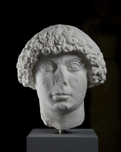 Cast of the head of man with Constantinopolitan hairstyle, from Aphrodisias