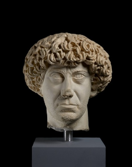 Cast of a portrait head of Flavius Palmatus, from Aphrodisias