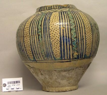 Jar with stripes