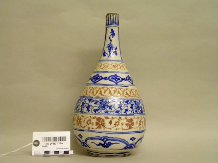 Bottle with bands of floral scrolls and arabesques