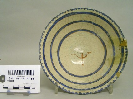 Bowl with concentric circles
