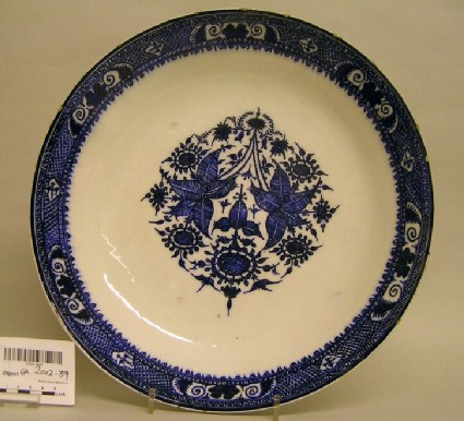 Dish with floral decoration