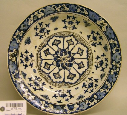 Dish with flowers