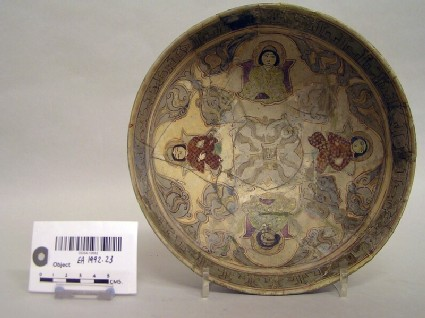 Bowl with four enthroned figures
