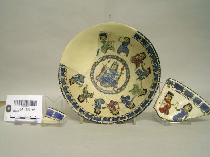 Bowl with enthroned figure