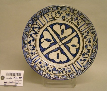 Dish with stylised floral decoration