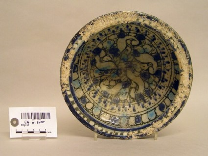 Bowl with abstract decoration