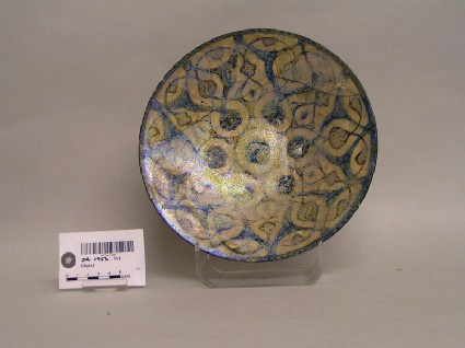 Dish with spiralling lattice work