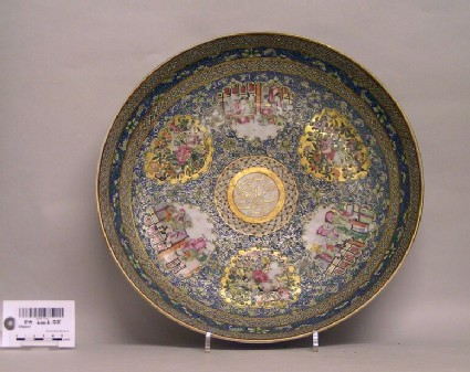 Canton export porcelain dish