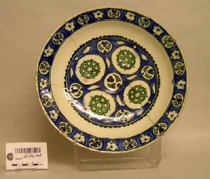 Dish with roundels