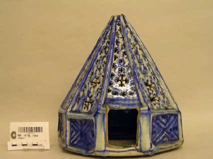 Lamp, possibly in the shape of a Bedouin tent