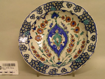 Dish with hyacinths