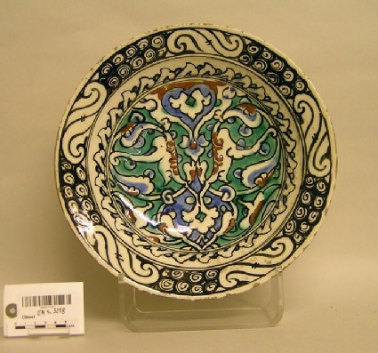 Dish with abstract motifs