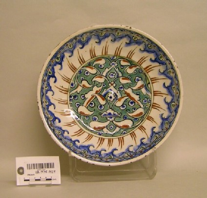 Dish with half palmettes and spiraling motifs