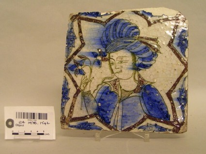 Tile with turbaned man