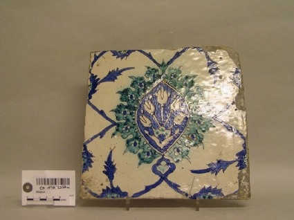 Tile with tulips