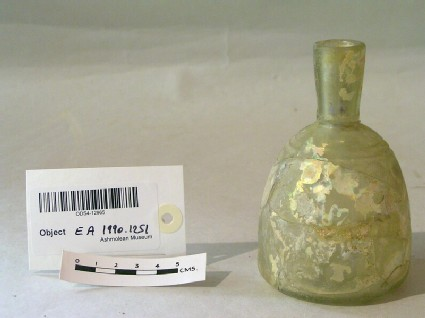 Bottle with cut decoration