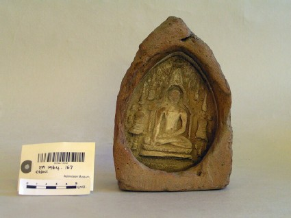 Votive plaque depicting Gautama Buddha