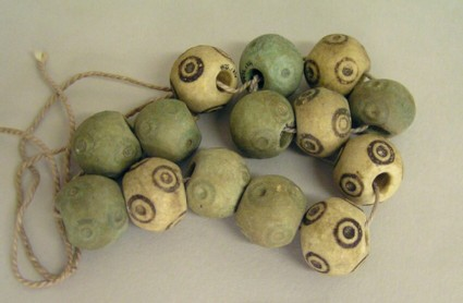 Beads with circles on a string