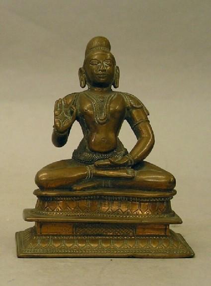 Figure of seated saint