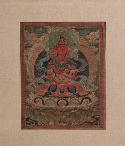 Woven silk thangka of Amitayus
