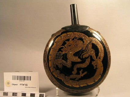 Flask with dragon decoration