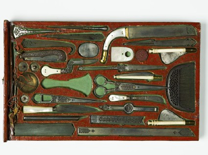 Drawer containing contents of a tool kit