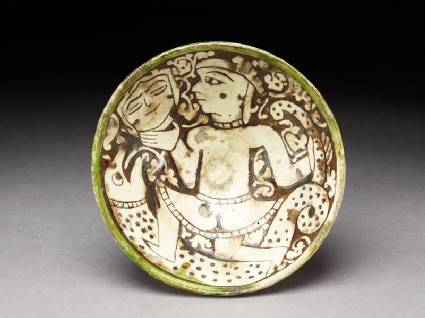 Bowl with female dancer