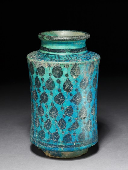 Albarello, or storage jar, with tear-drop shapes