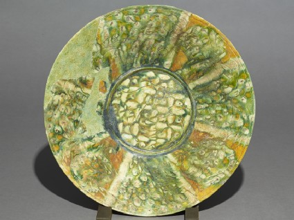 Dish with radial decoration