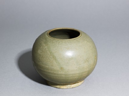 Greenware globular jar