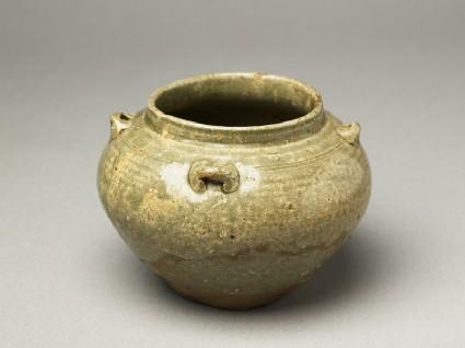 Greenware guan, or jar, with loop handles