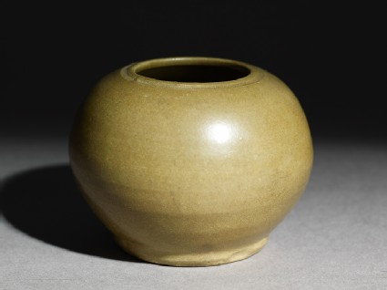 Greenware globular jar