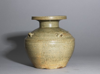 Greenware vase, or hu, with impressed decoration