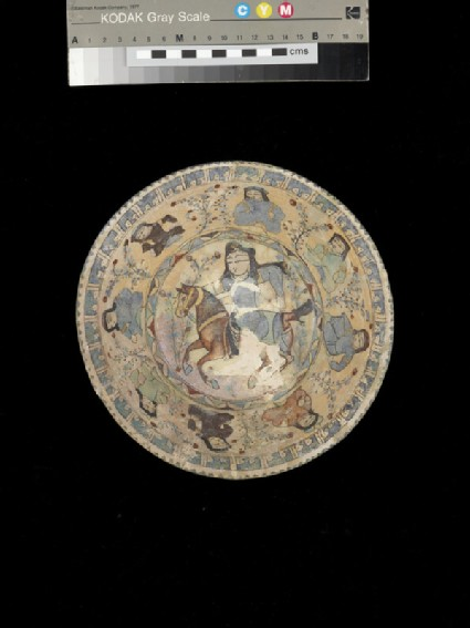 Bowl with horse rider and figures