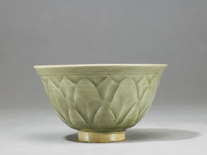 Greenware bowl with lotus decoration