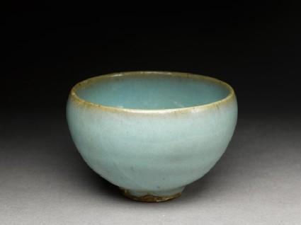 Small bowl with blue glaze