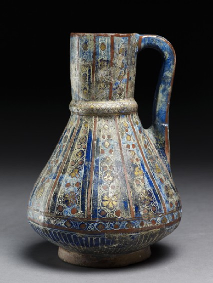 Jug with floral and geometric decoration