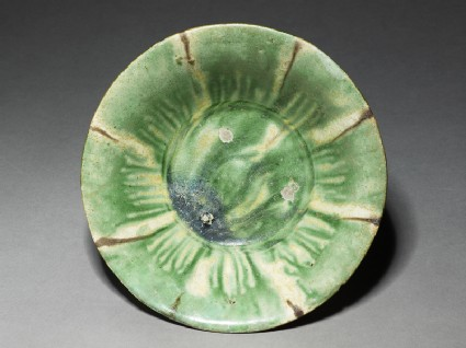 Bowl with splashed decoration in green and brown