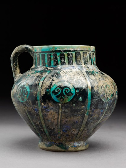 Jug with floral medallions