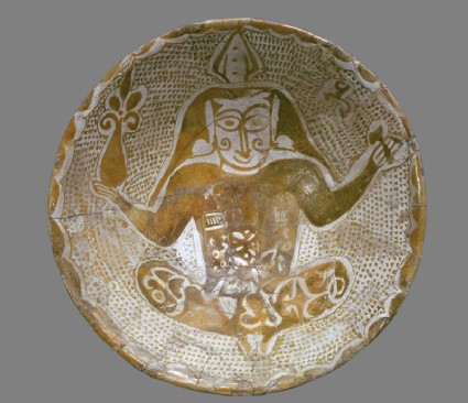 Bowl with seated figure